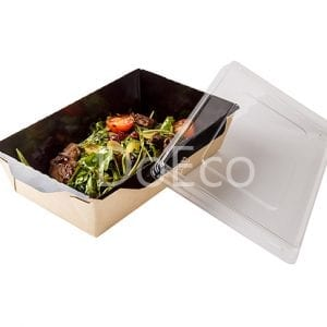 Eco Opsalad black edition doeco 300x300 - Salad Box with transparent plastic cover «Black Edition»