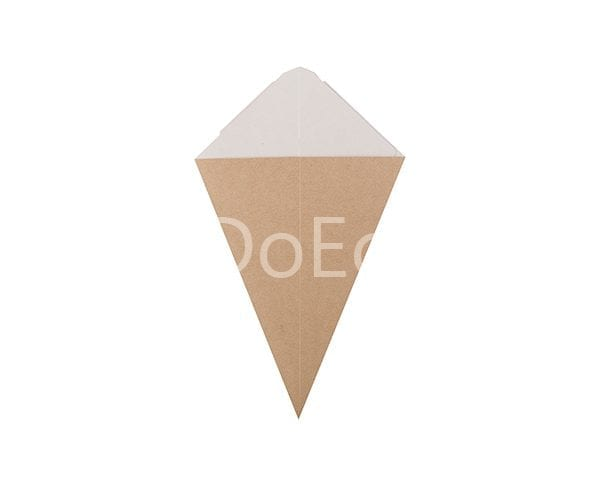 eco cone doeco 2 600x486 - Chip cone with dipping pocket