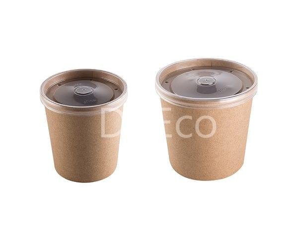 eco soup econom doeco 1 600x486 - Soup container with transparent lid
