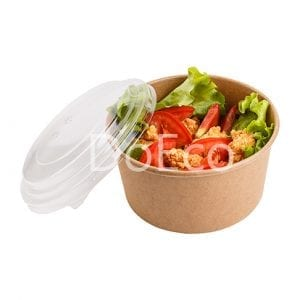 eco salad rcont doeco 300x300 - Round Paperboard Bowls with Transparent Lid
